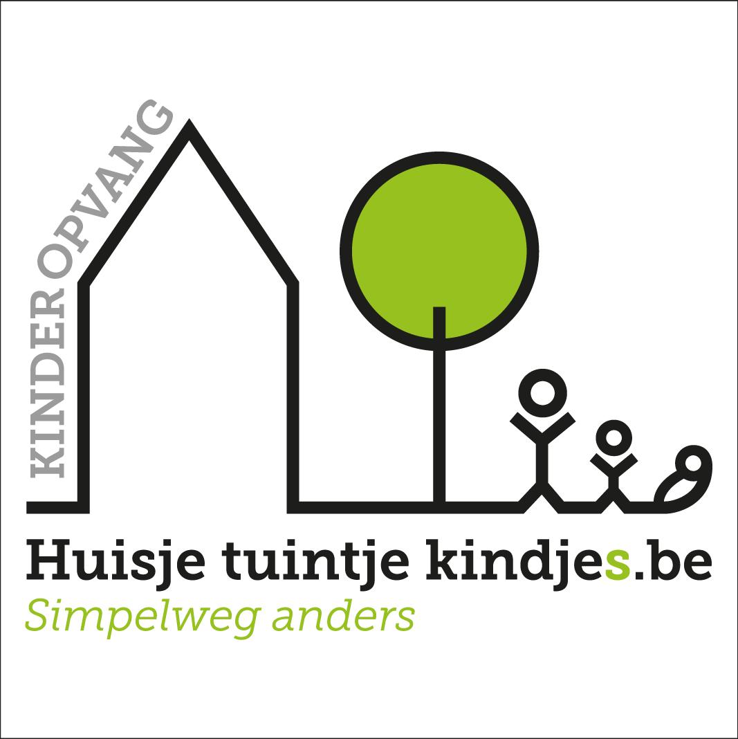 logo kinderopvang huisje tuintje kindjes